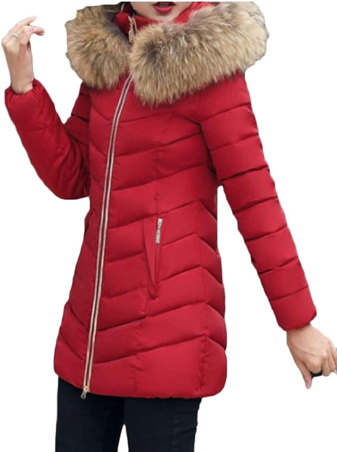 Desolateness Women Outwear Down Coat Parka Puffer Jacket Long Hooded Overcoats