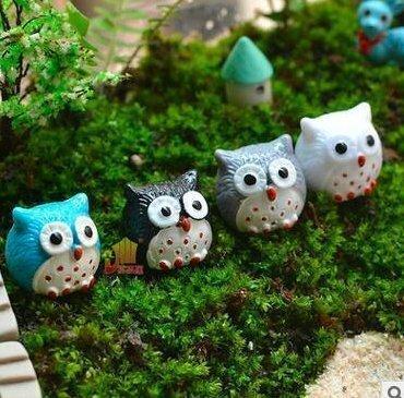 Treasure-House 20-Piece Miniature Fairy Garden Owl Ornament Dollhouse Plant Pot DIY Decor Home Decoration