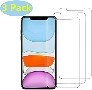 (3 Pack) Glass Screen Protector Compatible iPhone 11 Pro, iPhone XS/X, [Anti-Scratch] [2.5 D Curved Edge]Tempered Glass Screen Protector Compatible Apple iPhone 11 Pro, iPhone XS/X 5.8Inch