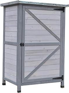Placards et coffres de rangement Jardin Armoires en bois d'extérieur Armoire de rangement Patio simple outil d'organisatio...