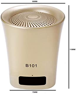 Acid Eye MINI-101 Bluetooth Speaker with Stereo Amplified Boom Box with All Multimedia Feature(Golden)