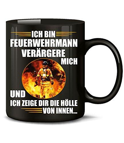 Golebros Ich Bin Feuerwehrmann Feuerwehr Tasse Becher Kaffeetasse Kaffeebecher mit Spruch Artikel Geschenke Geburtstag Geschenkidee Geschenkartikel