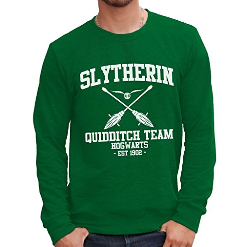 MUSH Sweatshirt Slytherin Quidditch Harry Potter - Film by Dress Your Style - Herren-L-Grün