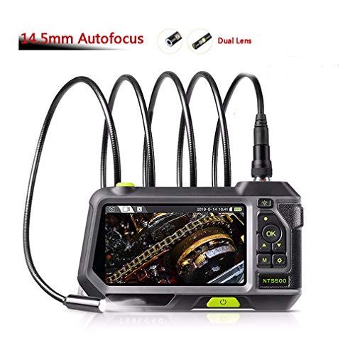 HWUKONG Endoscopio de la tubería detecta Instrumento de Control de Carga de Enfoque automático de 5,5 mm 8 mm de la Lente de Doble cámara de 5.0 LCD de Pantalla Hold endoscopio IP67 1m 3m 5m