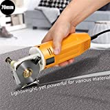 4YANG Taglia tessuto elettrico 70mm 220V Taglierina rotante per tessuto con dispositivo di affilatura automatica Taglierina per cuoio Tagliatrice elettrica Taglierina per tessuto per trapuntare