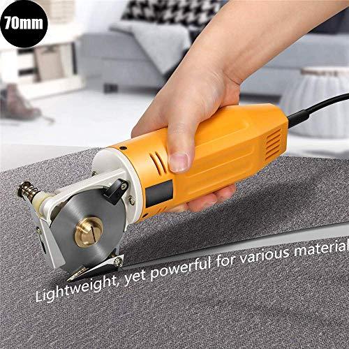 4YANG Elektrische Schere,70MM 220V Elektrischer Stoffschneider mit automatischem Schärfgerät Inzision sauber, ohne Grat, ohne Falten (Mini Stoffschneider)