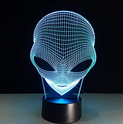 Robot masker 7 kleuren 3D lamp nachtlicht baby led acryl afstandsbediening lampen voetweg slaapkamer woonkamer licht bureaulamp
