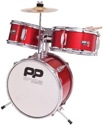 Performance Percussion PP150RD - Batería infantil (3 piezas), color rojo