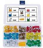 140 Pcs - MCIGICM Car Mini Blade ATM Fuse Assortment, 5A 7.5A 10A 15A 20A 25A 30A Mini Fuse
