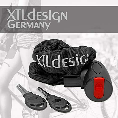 Fahrradschloss von XTLdesign Germany - stabil, leicht, sicher - Faltschloss oder Kettenschloss mit Sicherheitsstufe A (Kettenschloss mit Schlüssel)