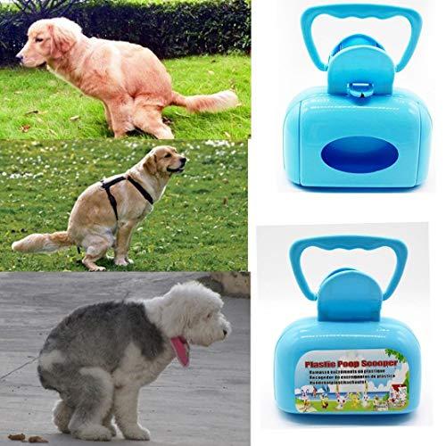 Carry stoneGriff Kiefer Poop Scoop Clean Pooper Scooper Pick Up Pool Hund Katze Haustier Abfall blau Langlebig und praktisch