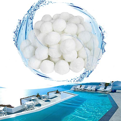 HENGMEI Pool Filter Balls 700g Filtermaterial Polysphere Filterbälle Poolfilter ersetzen 25 kg Filtersand für Pool Sandfilter (700g)