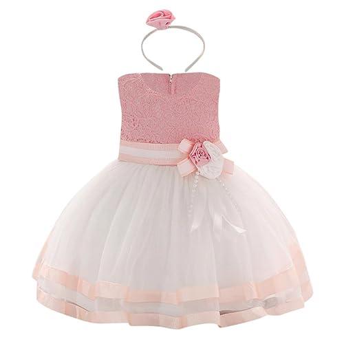 dcc29dc1a6d Minisoya Sweet Girls Kids Full Lace Floral Sleeveless Summer Beach Dress  Children Cute Baby Girl Princess