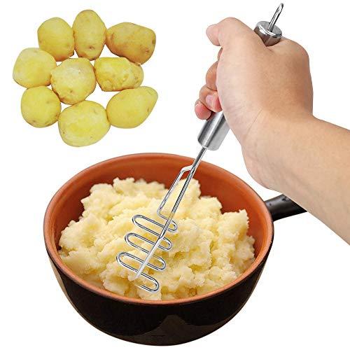 Kartoffelstampfer Edelstahl Durable Glatte Obst- und Gemüsesalat Stampfer Geeignet für Family Hotel Restaurant Bankett