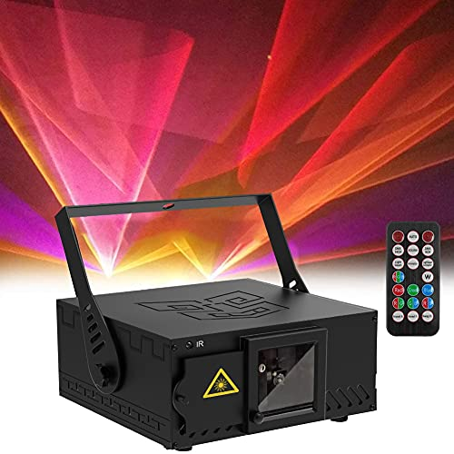 U`King DJ Disco Laser Party Lights RGB Stage Lighting Beam Light Illumination 3D Patterns LED Projector with DMX512 Sound Activated Remote Control for Festival Bar Nightclub Wedding Live Show
