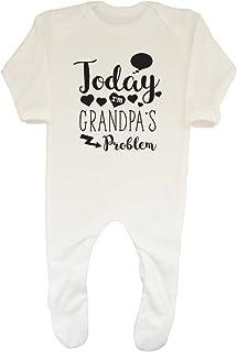 Shopagift Today Im Grandpas Problem Funny Cute Baby Sleepsuit Romper