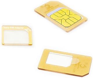 Cismax HD【Amazon即日出荷 】 落下防止機能付Nano SIM MicroSIM 変換アダプター 4点セット ゴールドiPhone6S/6/6plus/5S/5C/4S/4/3GS/3用STD xperia スマホ 拡張 便利 m...