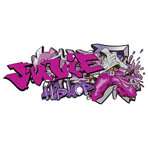 Sticker Tag Hip hop Fille Personnalisable 150x64 cm