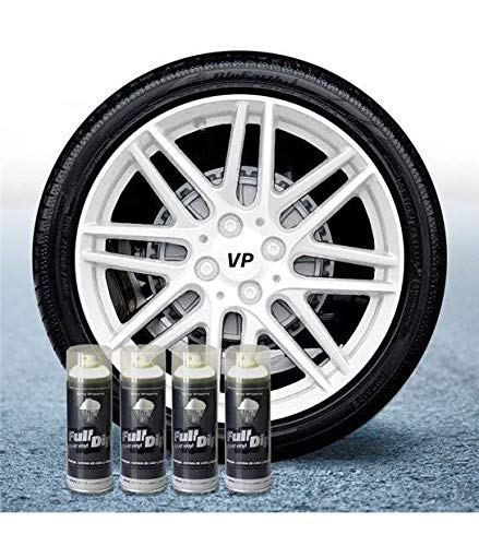 AutoFullCar Pack 4 Sprays Full Dip Blanco Mate