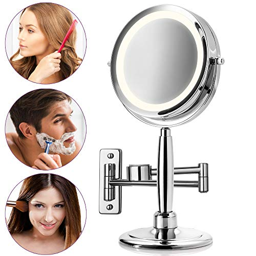 Maquillage Miroir Miroir de Maquillage Miroir mural avec éclairage DEL et 7x Zoom