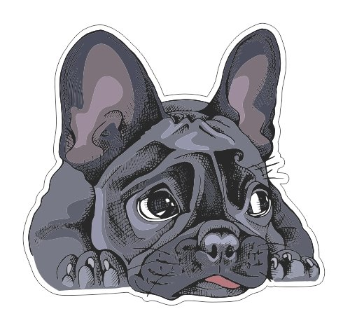 JS Artworks Cute French Bulldog Vinyl Bumper Sticker Decal Pet Family Love Dog