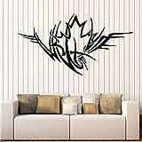 fancjj Wandtattoo Ornament Ahornblatt Symbol Leben Liebe Fenster Glasaufkleber Schlafzimmer Wohnzimmer Home Decor Art Abnehmbares Wandbild