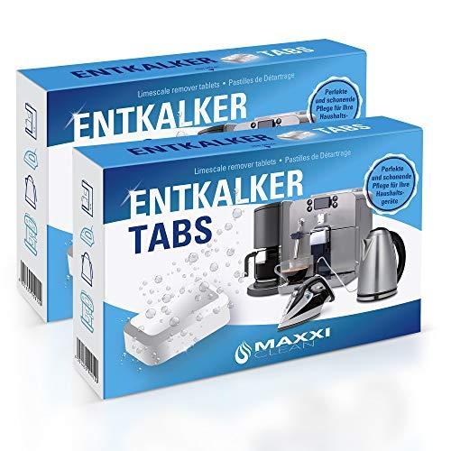 Maxxi Clean 2x50 Entkalker-Tabs, Kalklöser und Kalkreiniger als Allzweckreiniger zur Reinigung für Kaffeevollautomaten, Senseo, Tassimo, Vollautomaten, Wasserkocher und Waschmaschinen