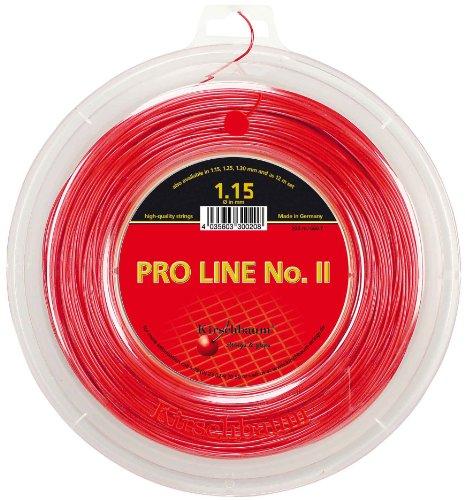 Kirschbaum Pro Line 2-Seil, Tennis, Rot Rot rot 1,25 mm x 200 m