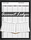 Account Ledger: 120 pages, Size 8.5 x 11 inches (double-sided), Journal Business Financial Record Notebook, Accounting Paper, Quality Paper, Date, ... Balance, perfect binding, non-perforated