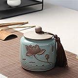 Botes Cocina Almacenaje Té de cerámica tarro vendimia del estilo chino de almacenamiento tarros de té Latas Latas frasco tradicional del carrito de té sellado tapas Inicio Cocina Comedor ( Size : B )