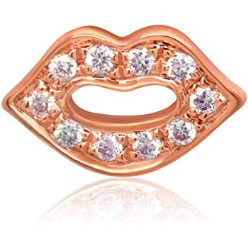 Chow Tai Fook So-in-love Collection Natural Diamonds and 18K Rose Gold Hot Kiss Stud Earring (One Piece)