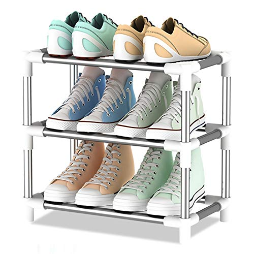 YFH 3 Niveles de Zapatos, Material de Almacenamiento de Zapatos no Tejidos Estante de Zapatos Soporte de Zapatos Combinación Zapatos Estante Espacio Ahorro de Estar Sala de Estar (Color : 2)