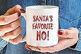 Taza de café con texto en inglés 'Santa's Favorite Ho Ho Ho Ho Ho Ho Ho, regalo de Navidad, taza de Navidad divertida