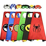 WIKI Birthday Presents Gifts for 3-10 Year Old Boys Girls, Cool Cartoon Superhero Satin Capes Dress ...