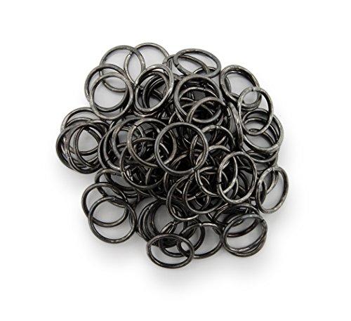 Binderinge / jump Rings 10mm Durchmesser Farbe Schwarz /
