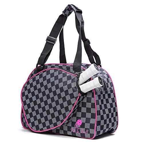 Pik'le'Ball Women's Premium Pickleball Bag. (Pink/Black)