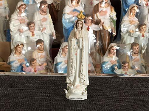 ANH19 Estatua para decoración, 17 cm, católica Romana, Iglesia católica, Madonna, decoración del hogar, bendita Virgen María, Nuestra Señora de la Fatima