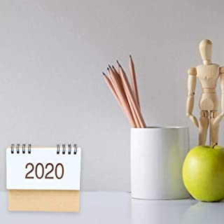 semplicit/à Bobina Stile 2020 Mini Lavagna Decorativa innovativa Calendario Decorativo per orario Scolastico Pianificatore di Tabella Sale/2019 Rainnao Calendario da Tavolo 2020