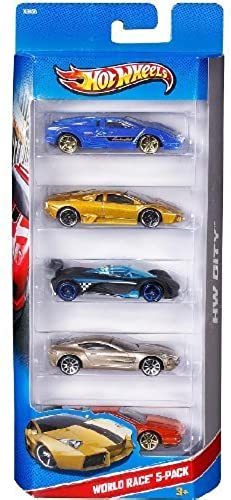 Hot Wheels 2014 City, World Race 5 Pack by Mattel