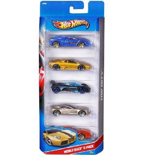 Hot Wheels 2014 City, World Race 5 Pack by Mattel