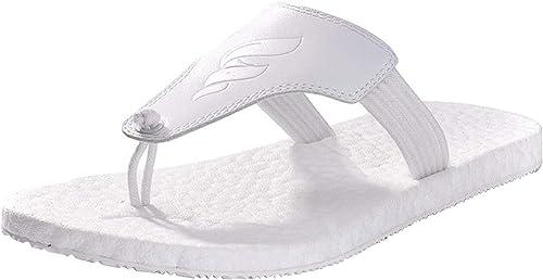 Hommes Classique Flip Toe Separator Tongs Parfait pour pour pour La Plage De Sport Gym Sandales De Loisirs Pantoufles Antidérapantes (Couleuré   Blanc, Taille   46EU) a70