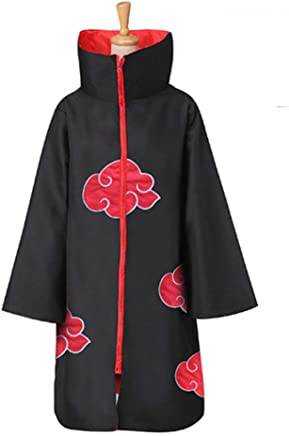 Molagogo Naruto Akatsuki Uchiha Itachi Robe Cloak Coat Anime Cosplay Costume Halloween