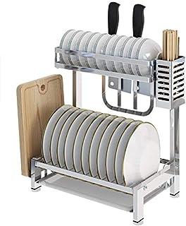 OKSS Organisateur Stockage Supports De Cuisine, Support Plat Séchage Cuisine d'acier Inoxydable/Égouttoir Comptoir Boîte R...