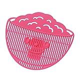曙産業 米研ぎ 水切り ストッパー ピンク 日本製 フック式 米ピタクリップ PM-471