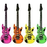 JUZIPI Guitarras de Aire de Color 50cm Air Guitar Air Guitar Inflable, Unisex-Adulto(4 Colores se envían al Azar)