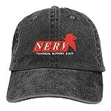 Neon Genesis Evangelion Hat Adult Adjustable Travel Classic Washed Denim Caps Hats for Outdoor