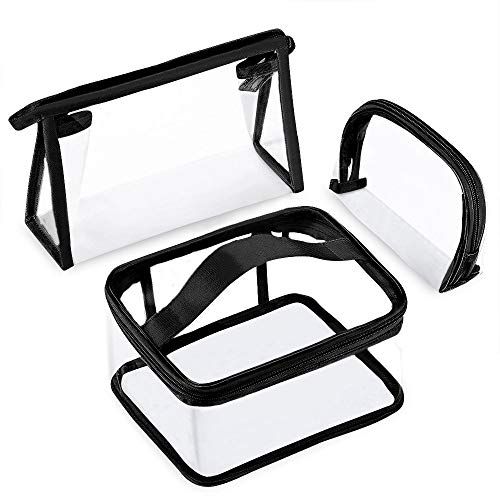Anrui Clear Travel Toiletry Bag PVC Waterproof Cosmetic Makeup Bags Organizer with Handle See Through Plastic Clear Case