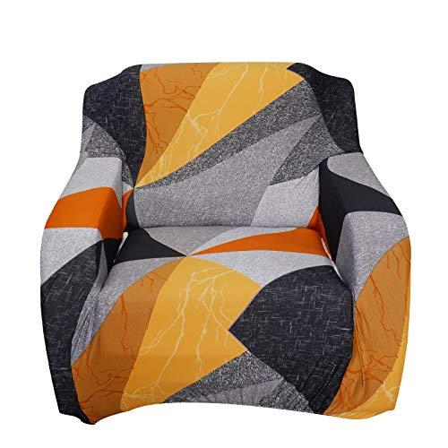 SHANNA Funda de sofá elástica para sofá de 1 Plaza, Antideslizante, Suave Funda de sofá con 1 Funda de Almohada (1 Plaza, Bloque Triangular)
