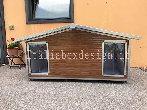 ITALIA BOX DESIGN Caseta doble para perros