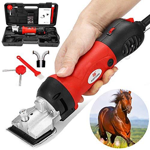 DFBGL Cortaúñas para Caballos, Tijeras eléctricas para Ganado equino de 690 W, Tijeras Profesionales para el Cuidado de Animales, cortaúñas para Animales de Alta Resistencia de 6 velocid